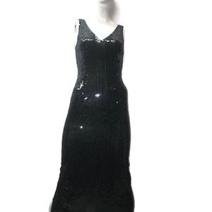 Niteline by Della Roufogali sequin evening gown
